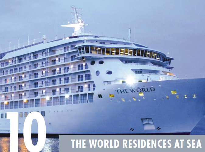the world residences at sea - top places to retire