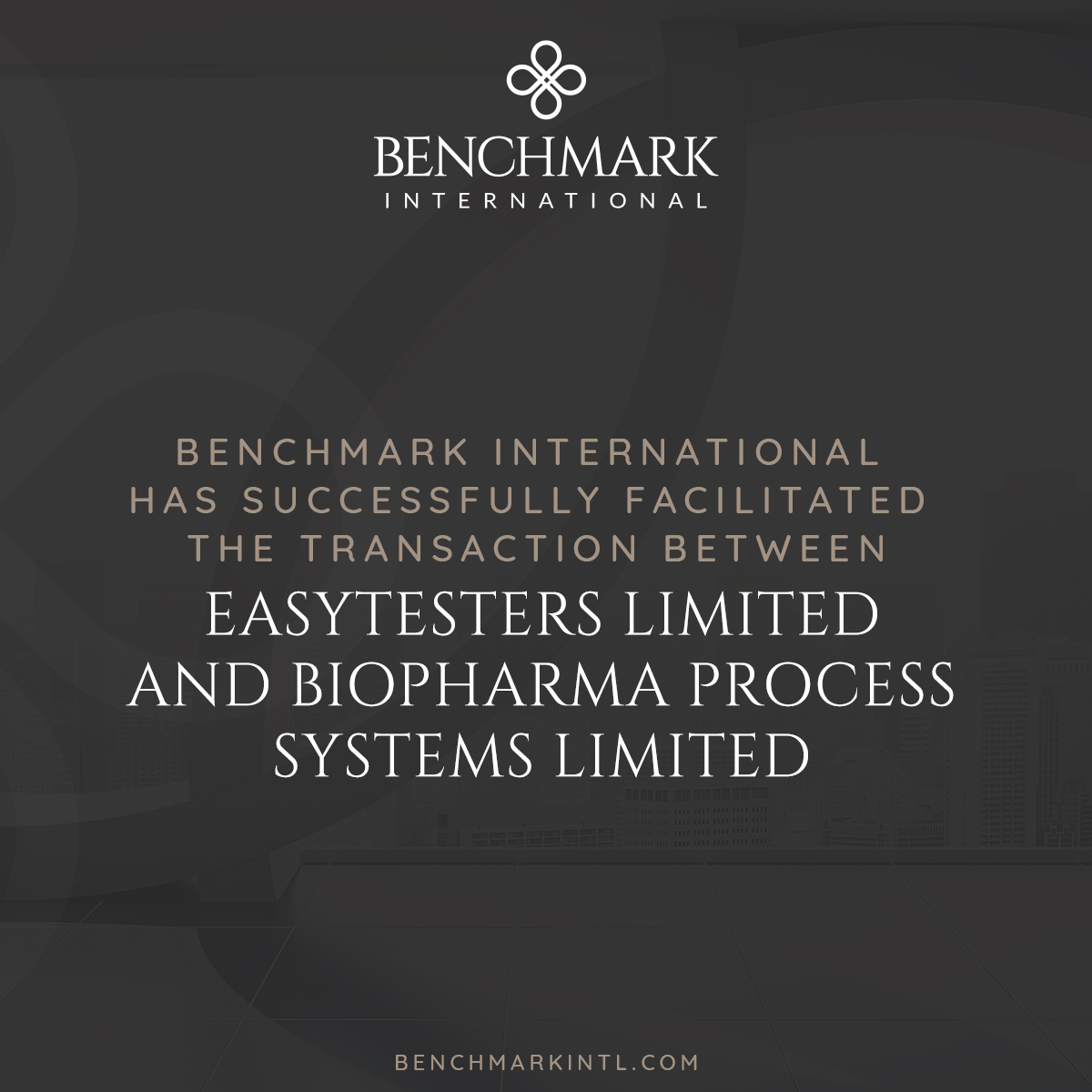Easytesters Acquired by Biopharma Process Systems