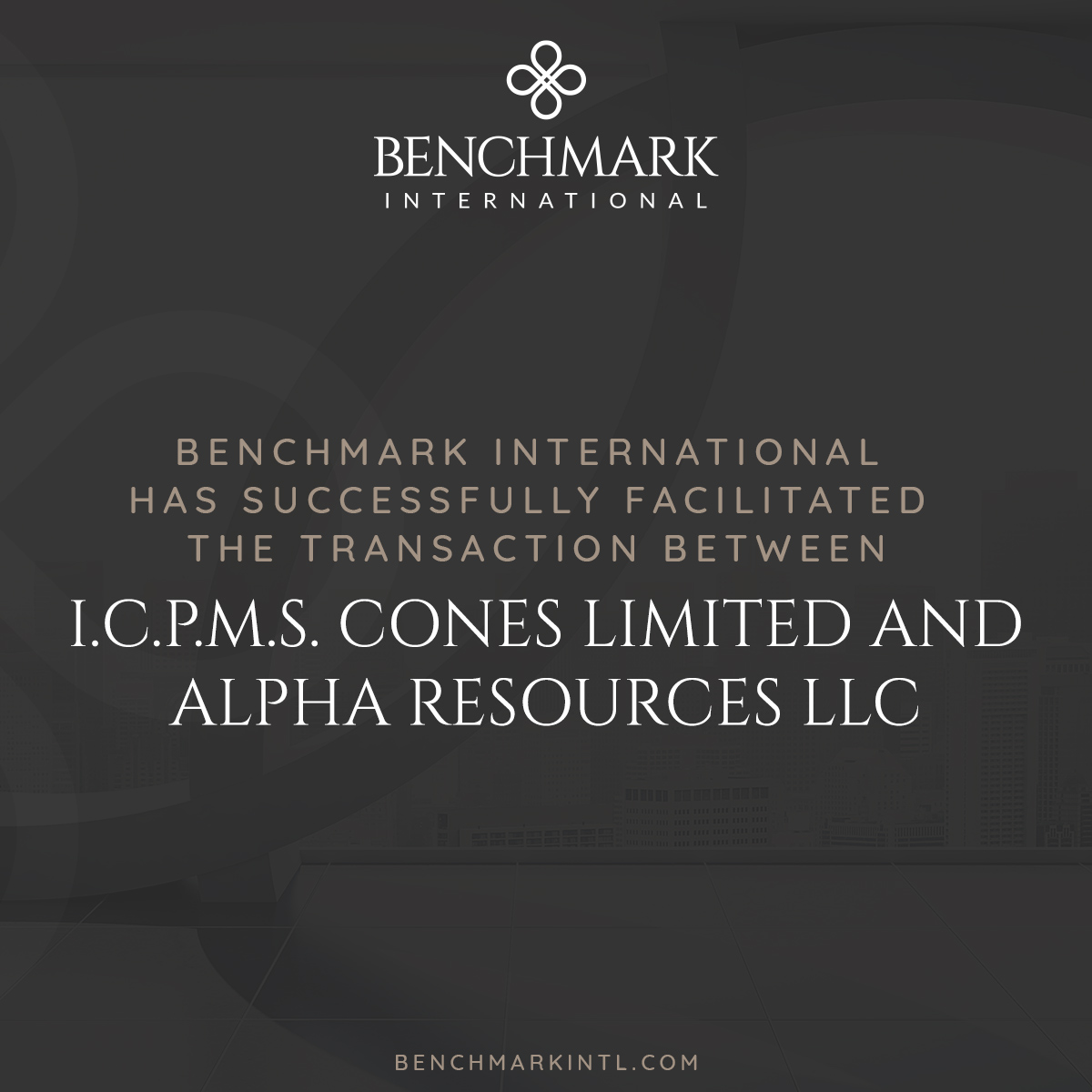 IPCMS Cones acquired by Alpha Resources