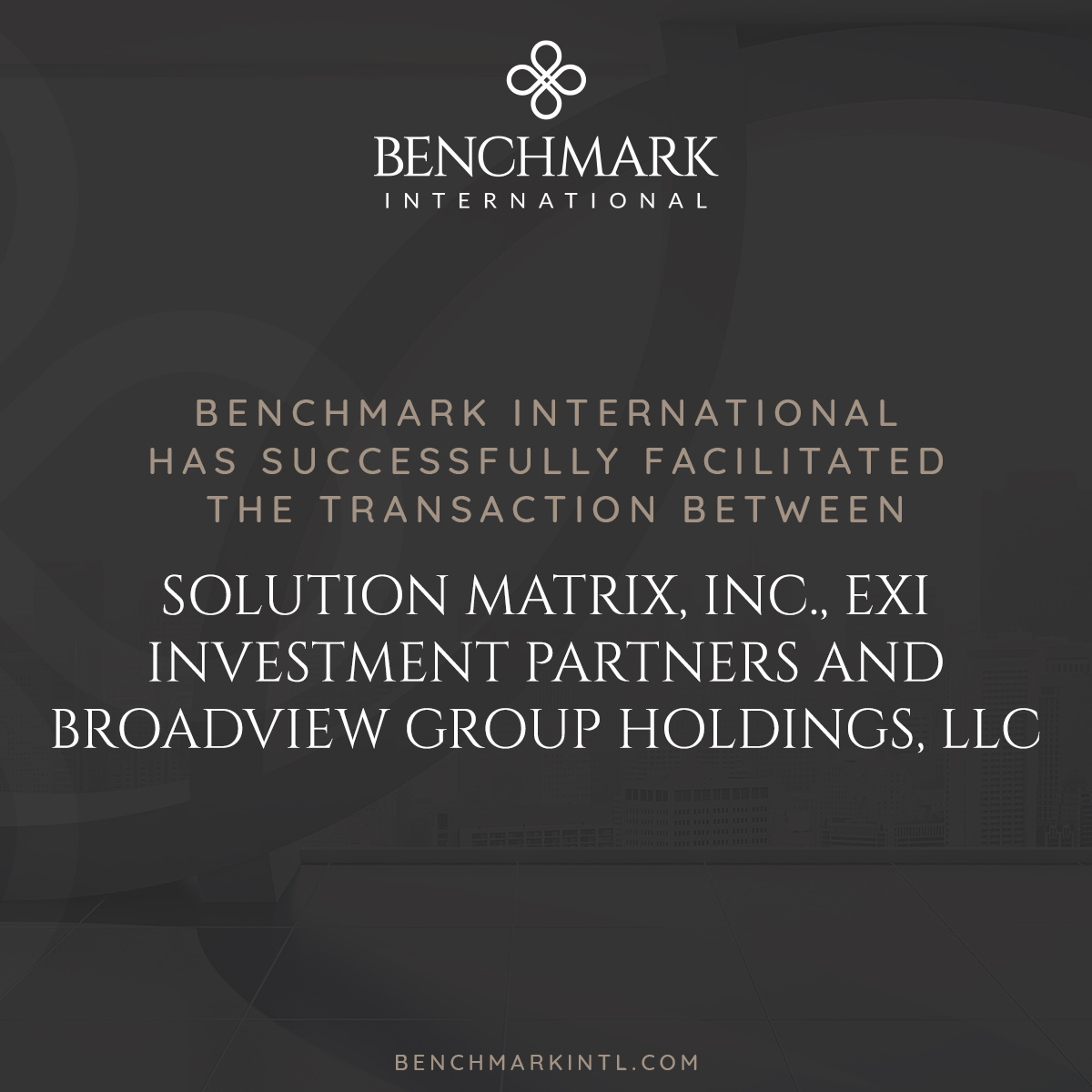 Solution_Matrix,_Inc.,_EXI_Investment_Partners_and_Broadview_Group_Holdings_LLC_Social