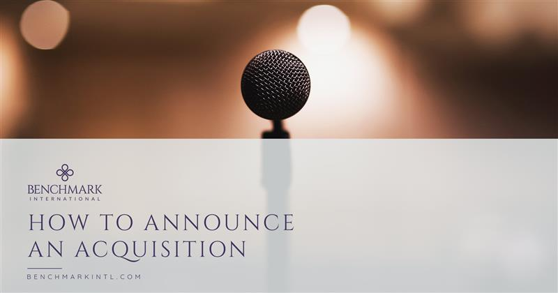 How To Announce An Acquisition