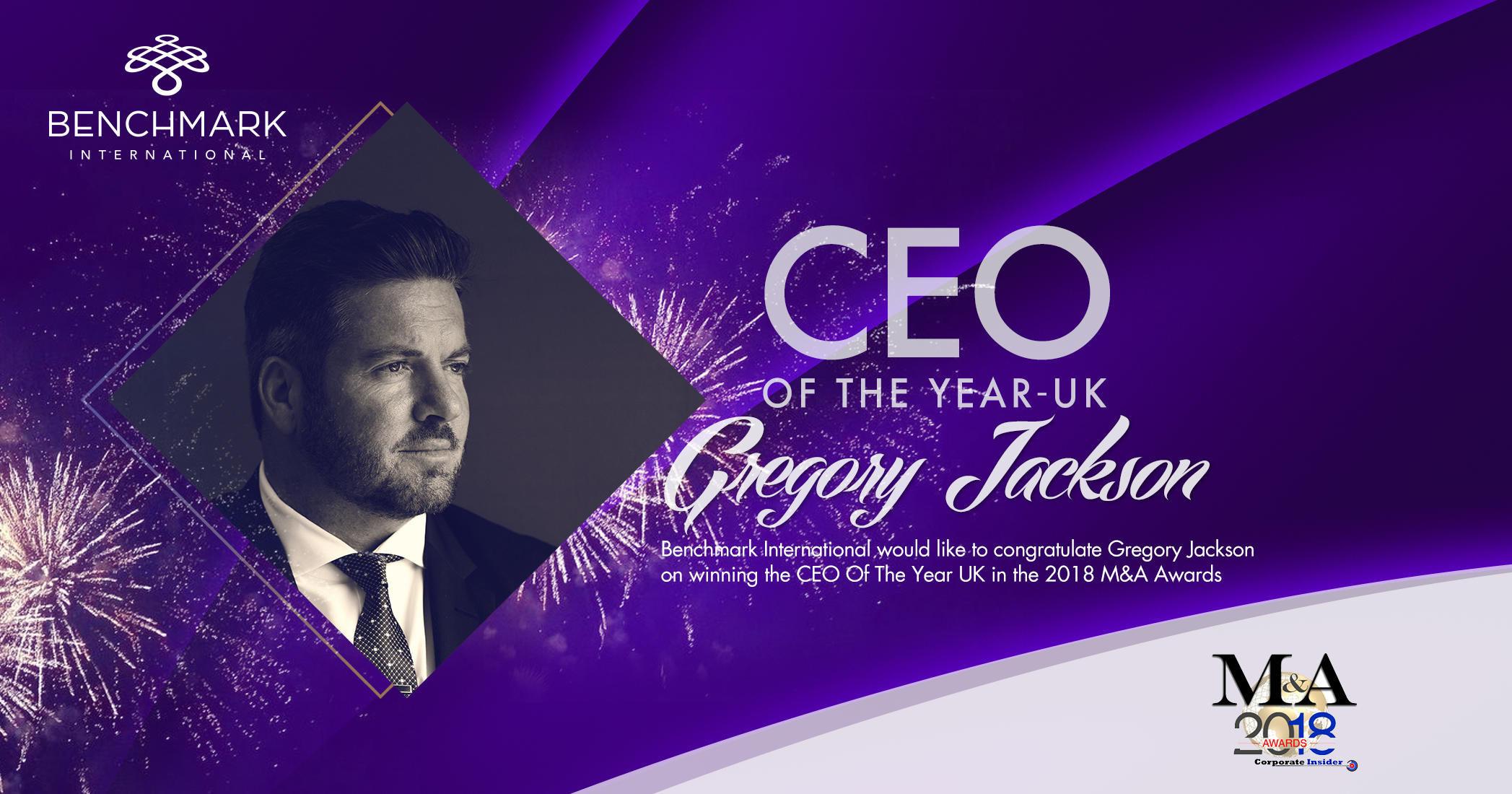 Gregory Jackson Named CEO of the Year by Corporate Insider