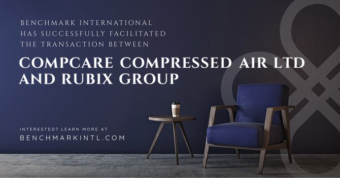 Benchmark International Successfully Facilitated the Transaction Between Compcare Compressed Air Ltd and Rubix Group