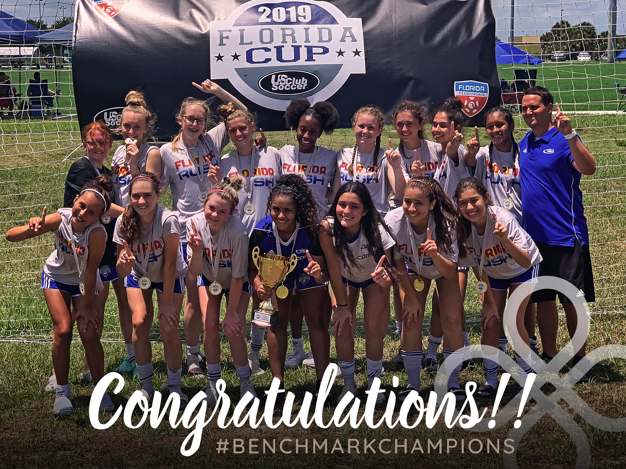 Benchmark International's Florida Rush Girls 04 Won the Florida Cup!