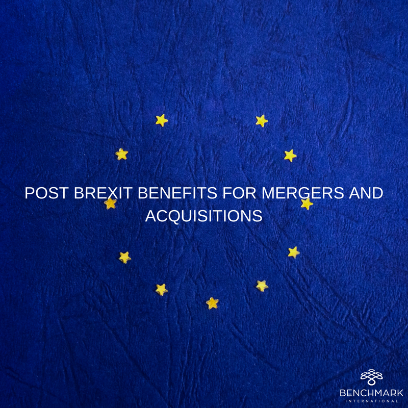 Post-Brexit Benefits for Mergers and Acquisitions