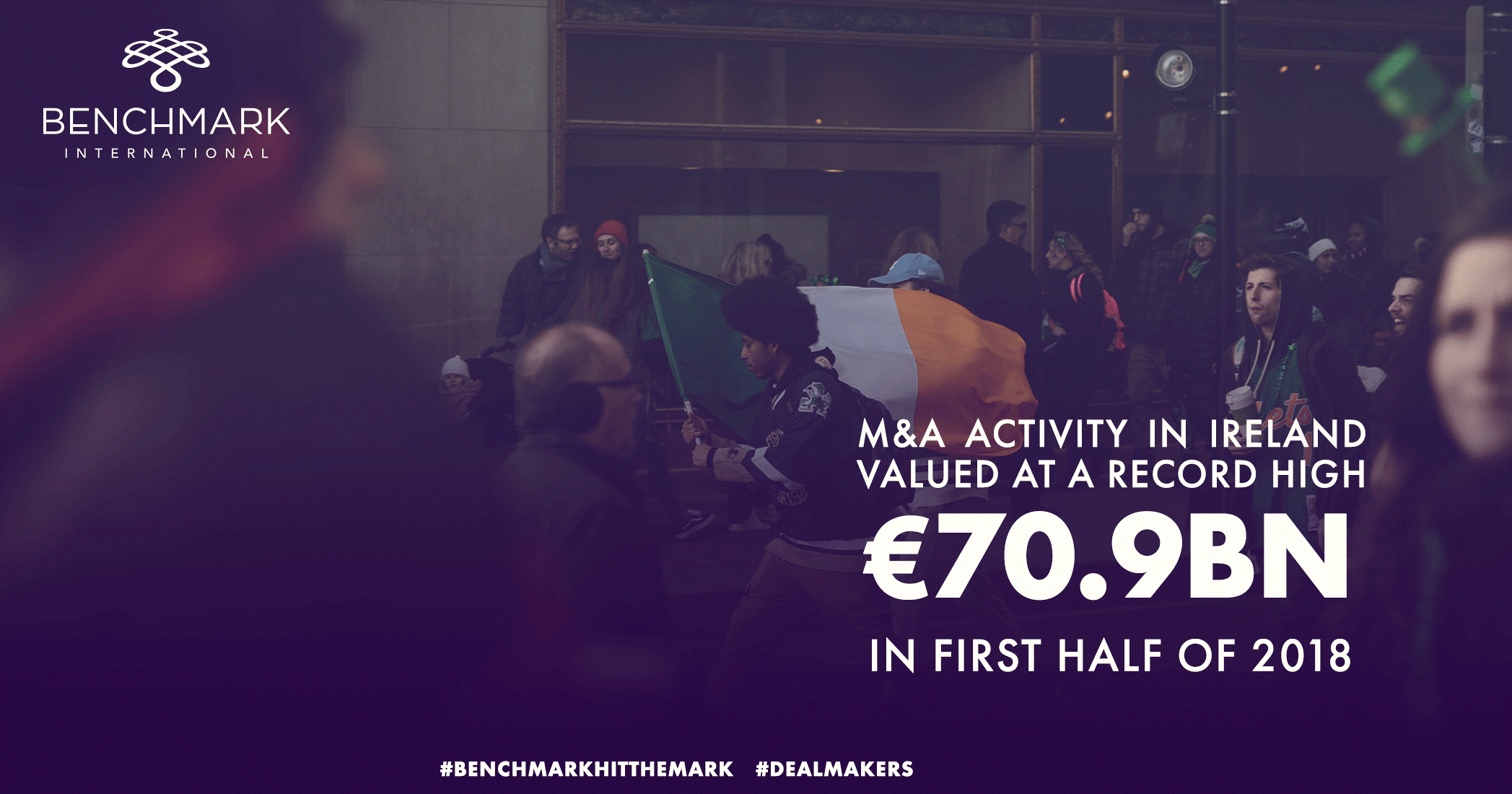 M&A Activity in Ireland Valued at a Record High €70.9bn in First Half of 2018