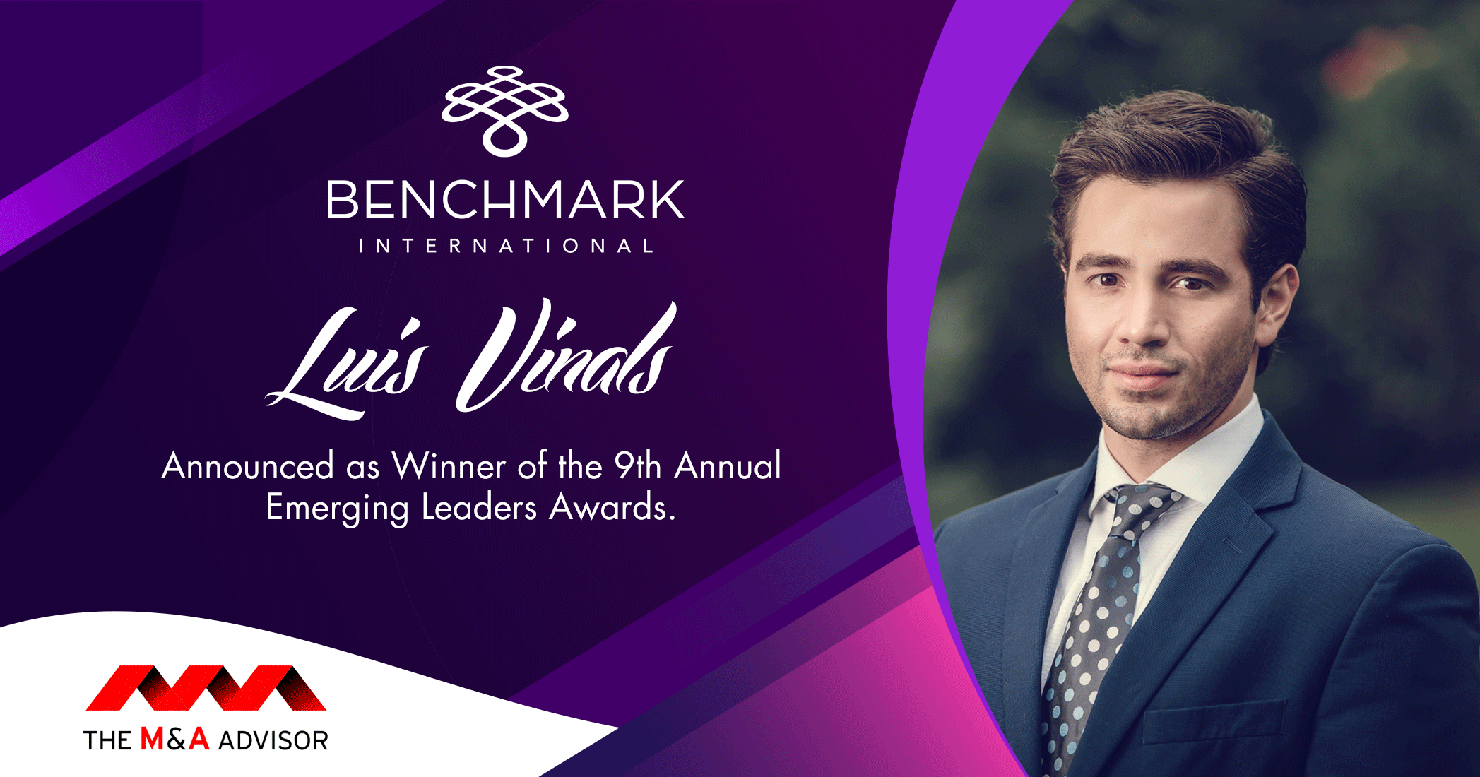 Benchmark International's Luis Vinals Announced as Winner of the 9th Annual Emerging Leaders Awards