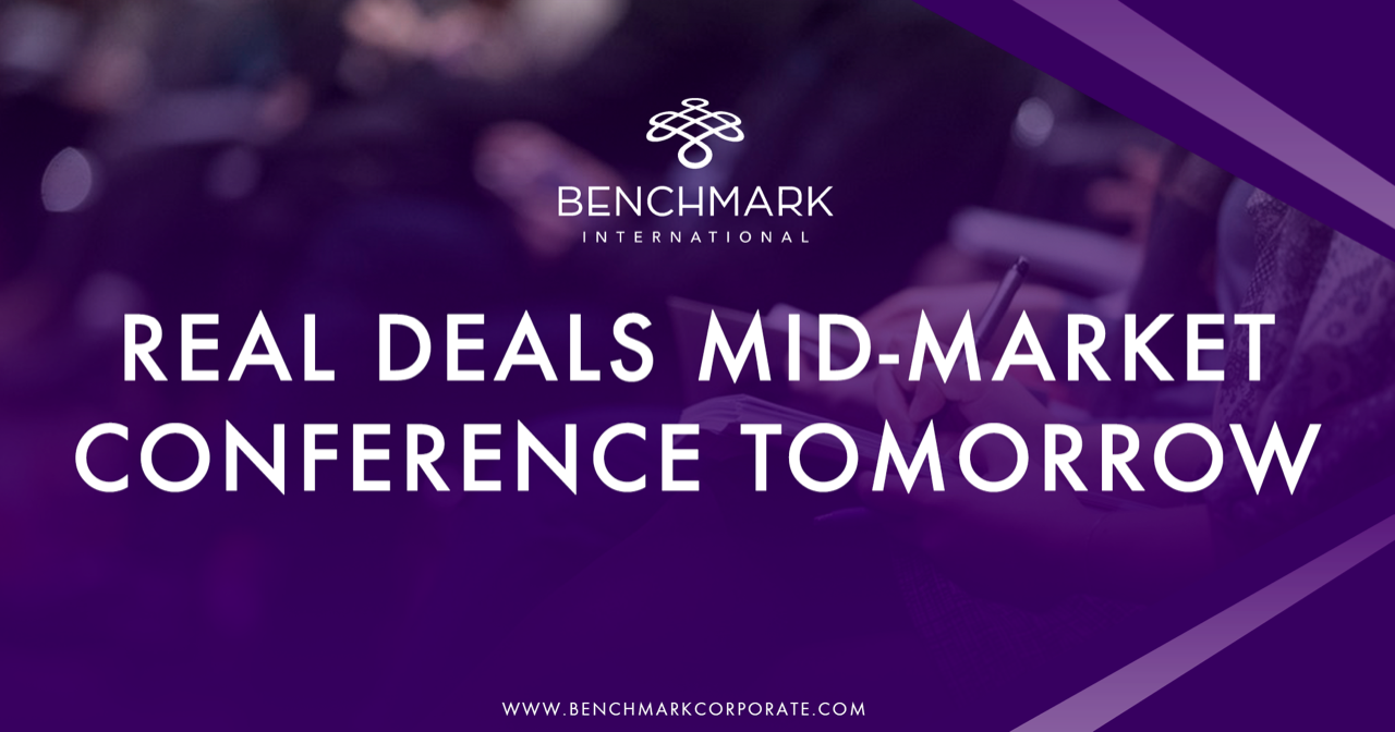 Benchmark International is Attending the Real Deals Mid-Market Conference 5-6th February