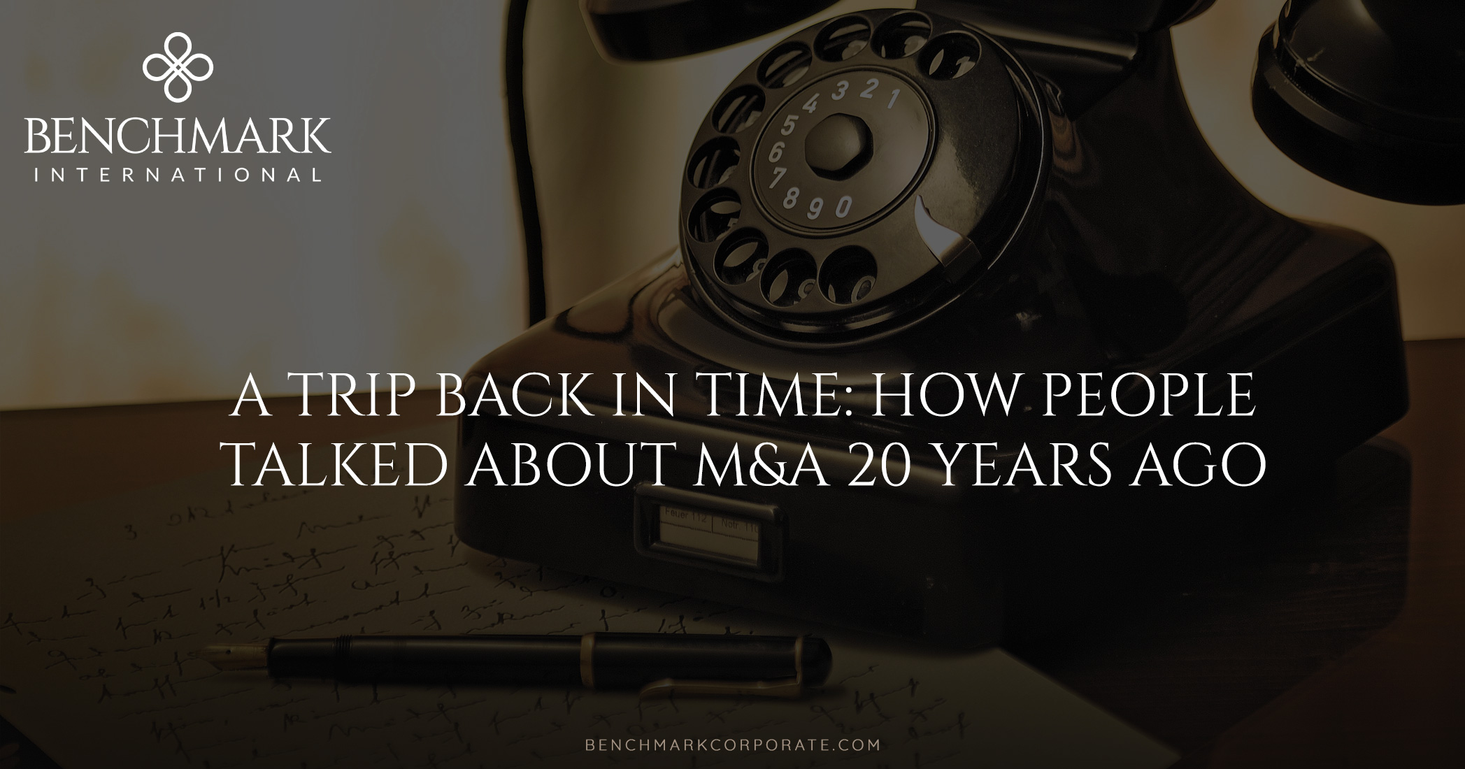 A Trip Back in Time: M&A 20 Years Ago