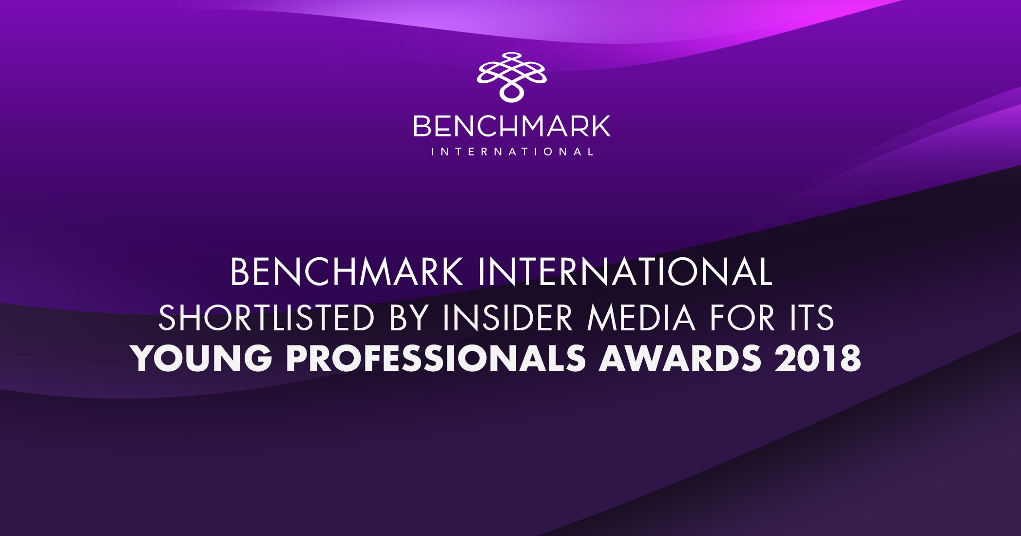 Benchmark International Shortlisted by Insider Media for its Young Professionals Awards 2018